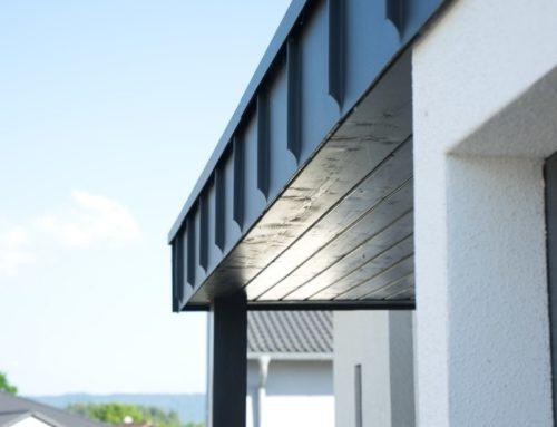 modernes Vordach im Detail
